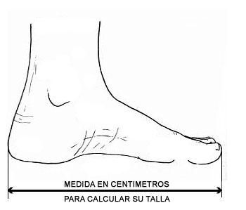 Tallas de calzado de adulto