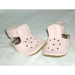 Patucos de bebé sandalia rosa