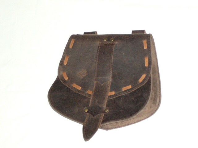 bolsa medieval cuero piel