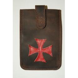 Funda para móvil cruz templaria roja