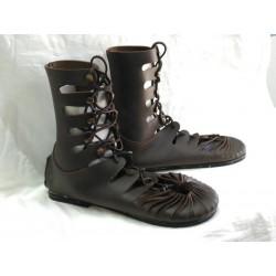 Sandalia bota romana Marrón